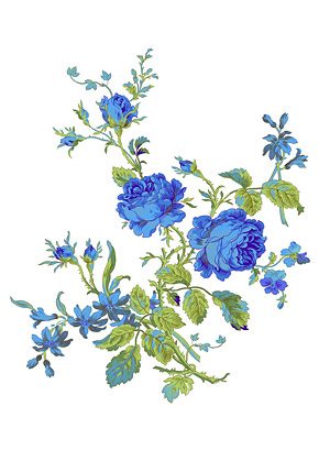 Ручная роспись цветы слоистых материалов psd-6