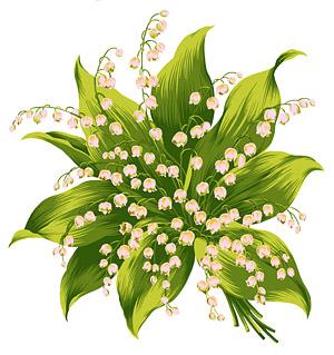 Fleurs peintes à la main en couches matérielles psd-9