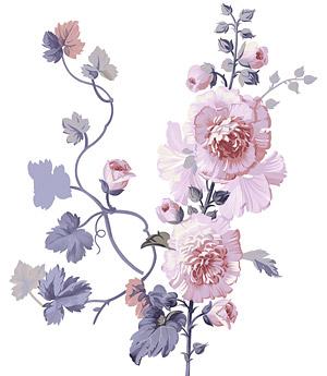 ทาสีมือดอกไม้ชั้นวัสดุ psd-11