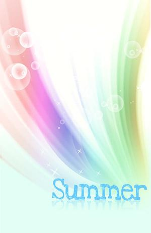 Verano estilo coreano material en capas psd-3