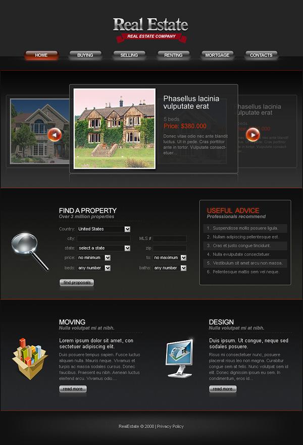Exquisito estilo europeo sitio Web de plantillas psd + fla archivo fuente