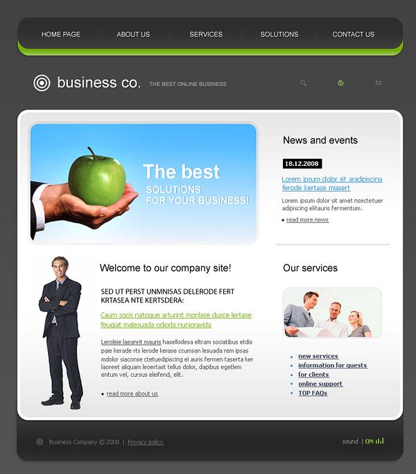 Exquisito estilo europeo sitio Web de plantillas psd + fla archivo fuente -2