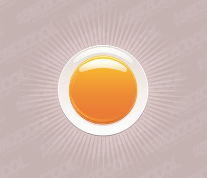 раунд оранжевый кристалл материала