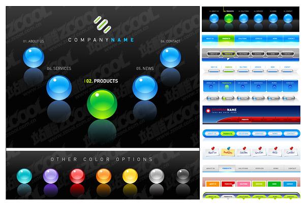 Кнопка навигации веб дизайн