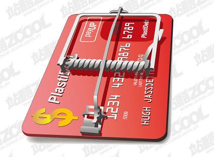 Material de vectores de interrupción de tarjeta de crédito