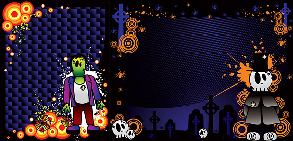 Halloween Vektor Werkstoff