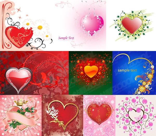 Heart-shaped tema del material de vectores