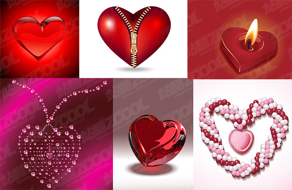 heart-shaped theme of the three-dimensional vector