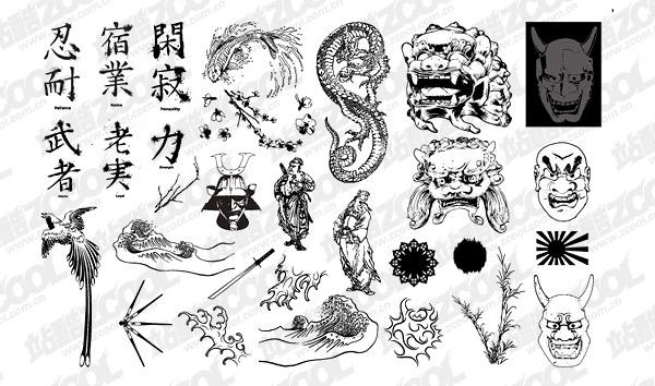 Ir de producción de medios de comunicación diseño clásico japonés Set12