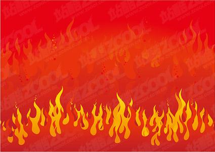 Matériau de feu rage de vecteur