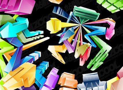 Прохладный стиль трехмерной кристаллической стрелка