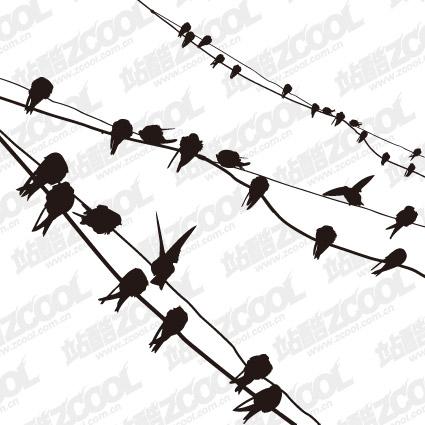 Вектор остальной материал птица