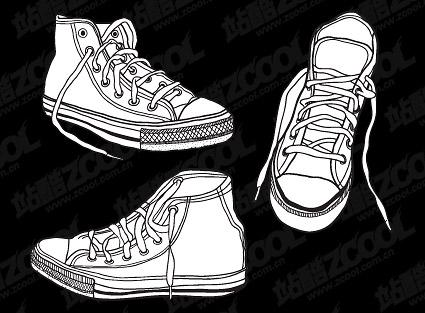Material de zapatos de vectores