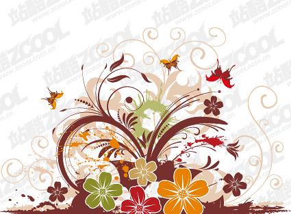 美しい蝶パターン ベクトル材料