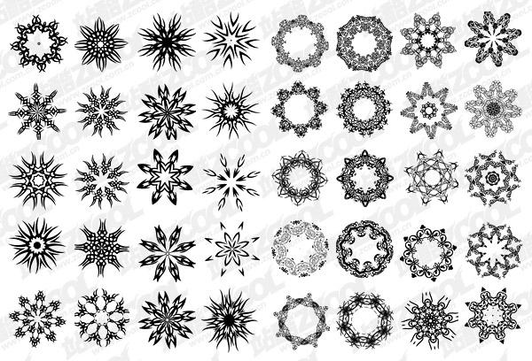 Plusieurs documents de vecteur de motif circulaire