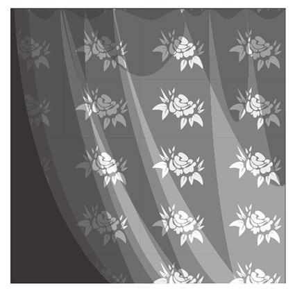 patrón de material de gasa blanca