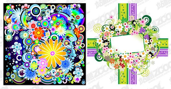 vector de coloridas flores