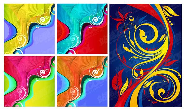 컬러 트렌드 패턴 벡터 디자인 소재