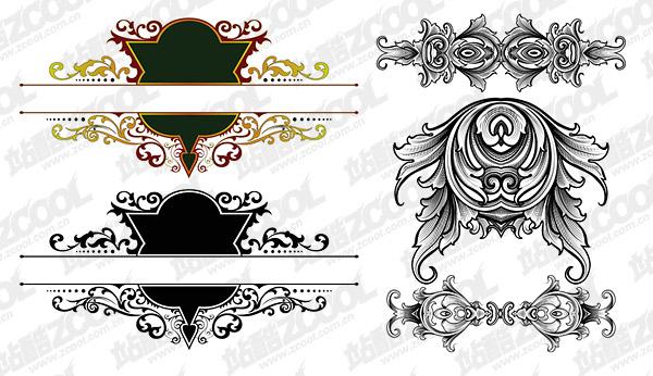 lindo estilo europeu clássico padrão vector