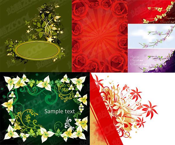 ファッション絶妙な花パターン ベクトル材料