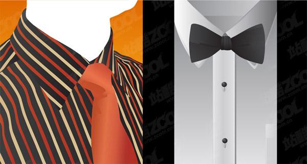Material de camisa e gravata vector