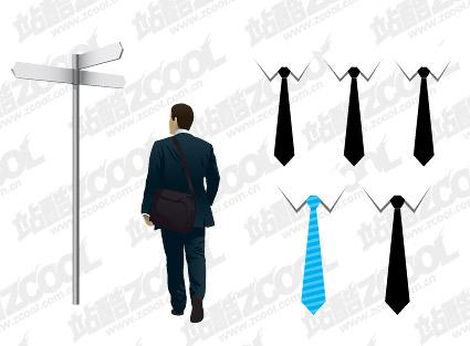 Affaires personnes et cravate vecteur matériel