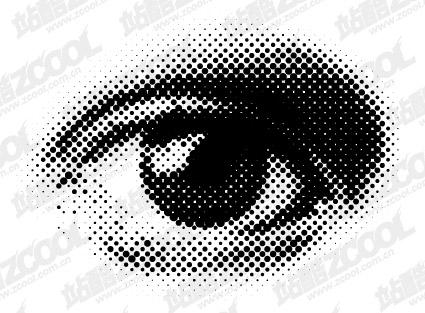 Ojos redondos de vectores de material de red