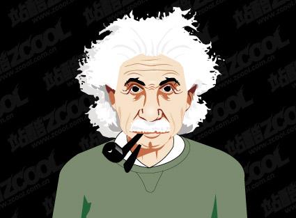 アインシュタインのベクター素材