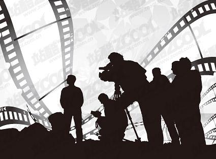 ชุดรูปแบบของภาพยนตร์อักขระร่างเวกเตอร์วัสดุ
