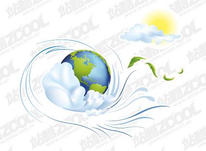 Illustration de vecteur de ville du matériau Terre
