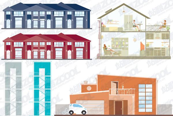 einfachen Vektor-Illustration-Gebäude