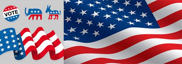 US-amerikanische Flagge material