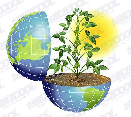 地球のベクター素材の活力