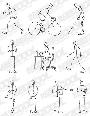 Zeichnung der Bewegung von Menschen