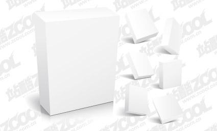 material de vectores de plantilla en blanco cuadro 3D