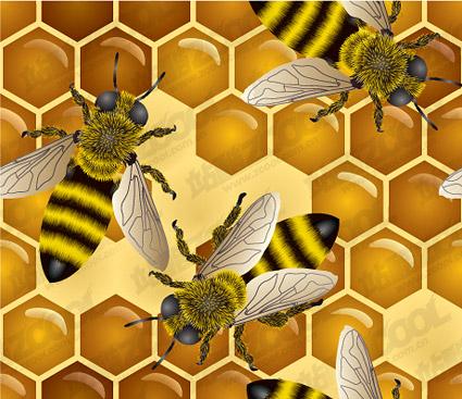 Matériau illustration de Bee thème vecteur