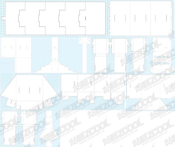 Absatz klassischen Daomo Vektor Verpackung Material-2