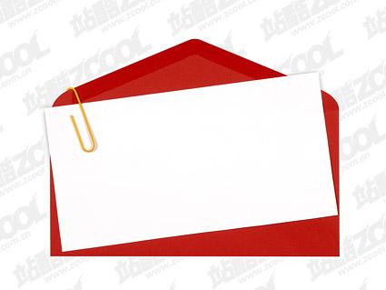 赤い封筒便箋品質画像します。