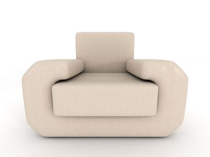 material de imagen 3D de sofá