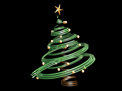 3 D のクリスマス ツリーの素材