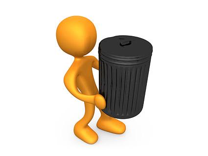 3D мусор может картина мало парня для перемещения материала