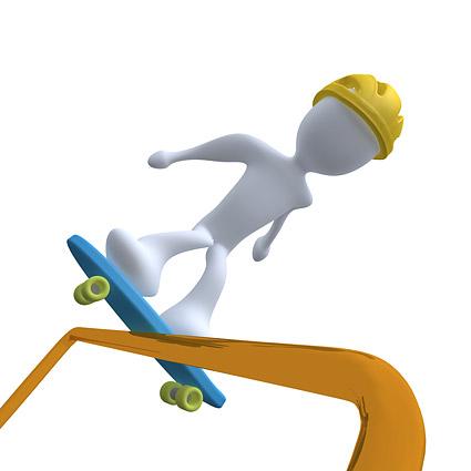 Embarquement de patinage 3D et peu de matière image