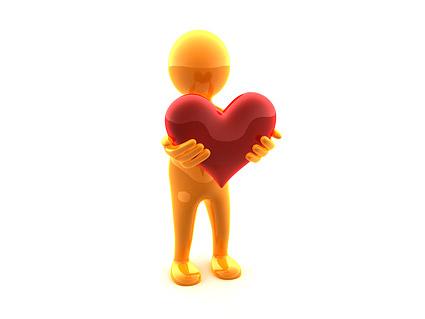 แบบสามมิติที่จับภาพรูปหัวใจน้อยวัสดุ-2