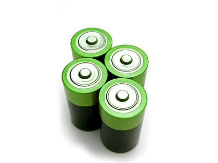 Image verte de la matière de batterie