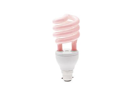 Hemat energi lampu merah muda gambar bahan