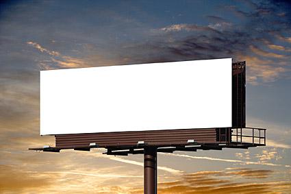大きなギャップに屋外ビルボードの写真素材-1
