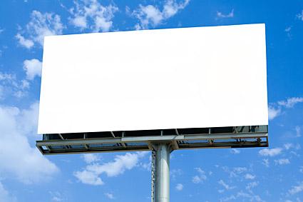 Les grandes lacunes en plein air billboard image matériel-2