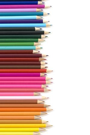 อาร์เรย์ของสีดินสอภาพวัสดุ