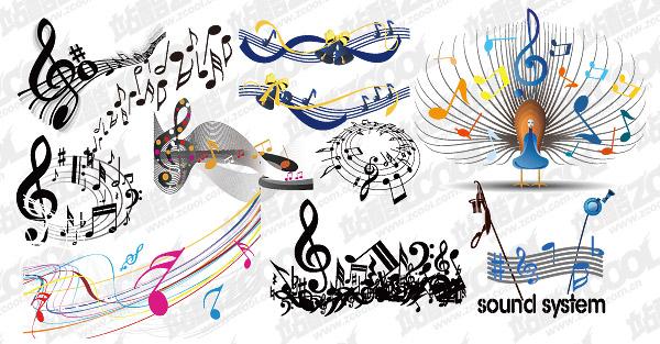 практические элементы музыкального векторного материала
