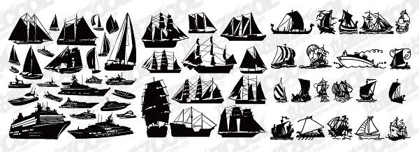 Un certain nombre de voile de matériau de vecteur-coupe de navires